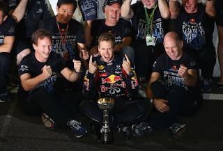 Congratulations Seb Vettel and Red Bull