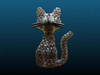 chat noir en scoubidous