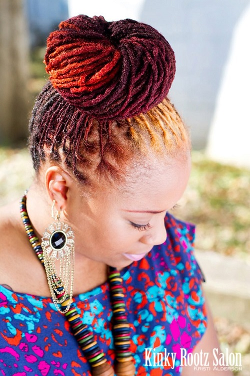 Kinky Multi colored Hairstyles for Black Women