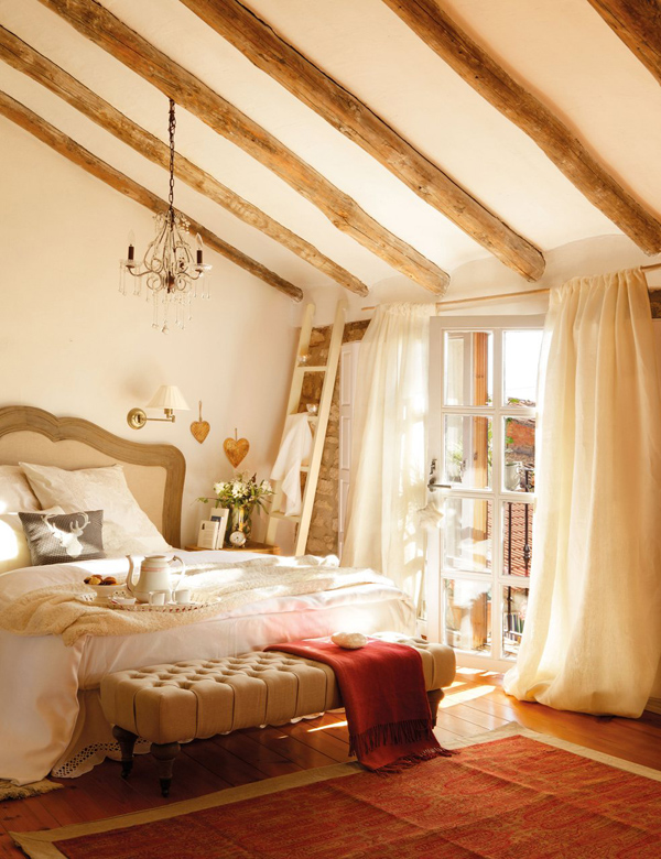 Roses and rust rustic elegance for Rustic elegant bedroom