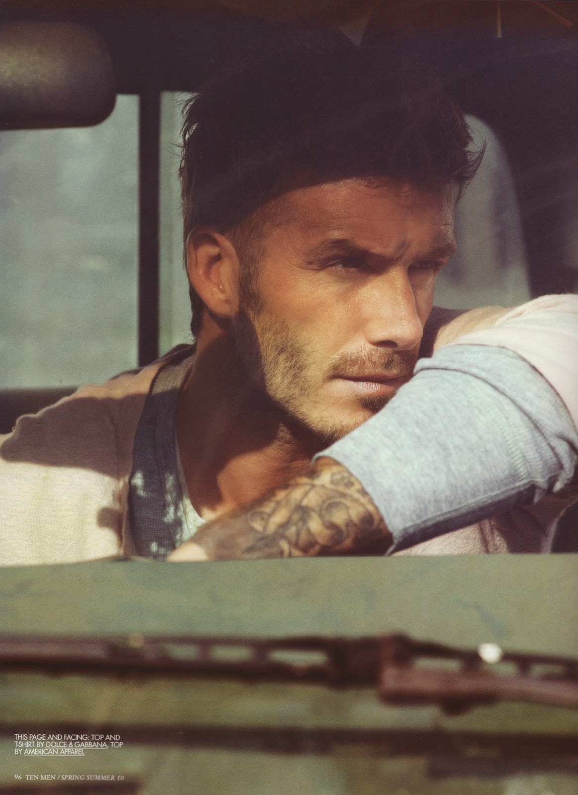 David Beckham 2010 Photoshoot In a Truck