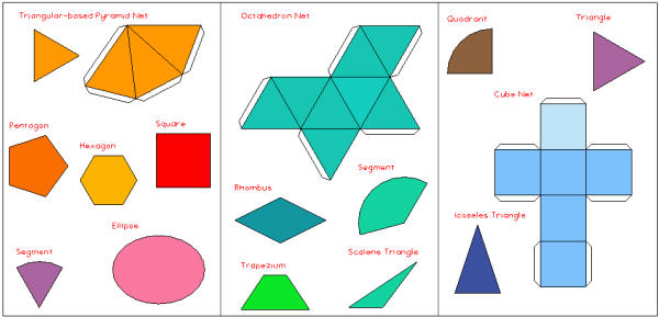 3d shapes names list images How to make 3d shapes