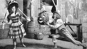 Joe Miller offers Pearl a Halloween Jack O' Lantern