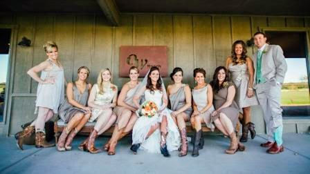 Ryan and Leslie, Bridal Party in Boots, McGowan Images