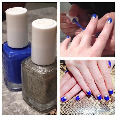 Essie, Essie Butler Please, Essie Beyond Cozy, moon manicure, nail art, Tenoverten, nail salon, nail polish, nail varnish, nail lacquer, manicure, mani monday, #manimonday, nails