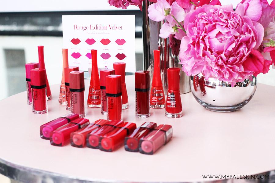 #bourjoissummer bourjois paris product launch rouge edition velevet lipstick swatch my pale skin