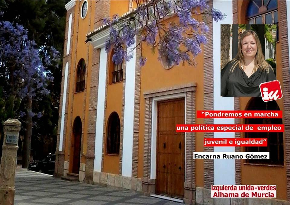 Izquierda unida verdes alhama de murcia candidata n 16 encarna ruano g mez - Electricistas en murcia ...