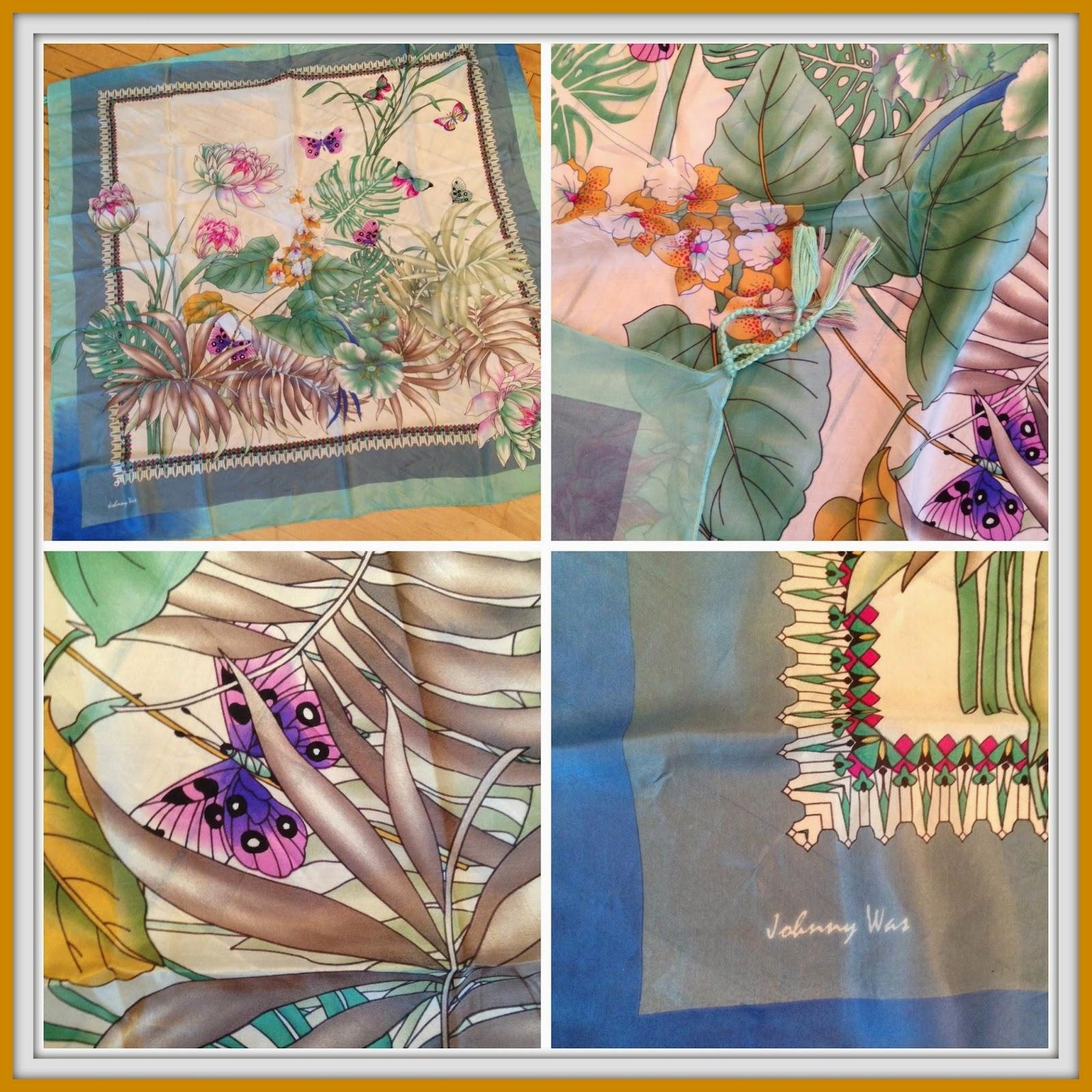 Blue Springs Silk Scarf by Johnny Was ($88)