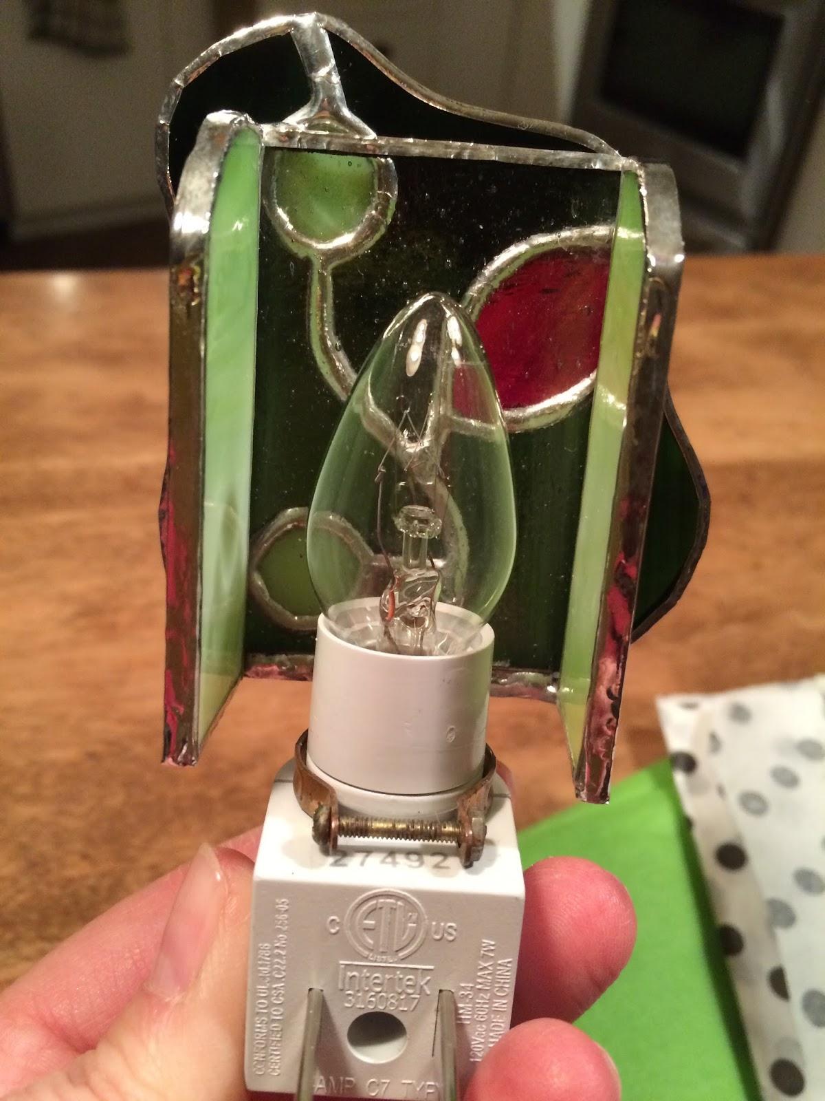 Atelier verre pomme un cadeau d 39 change pour no l for Lampe de chevet originale