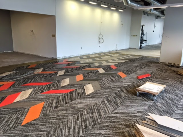 New Flooring Materials rje business interiors: we are in love.with our new floors!