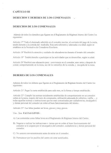 Reglamento de funcionamiento del comedor escolar ampa ceip el acequi n torrevieja - Proyecto de comedor escolar ...