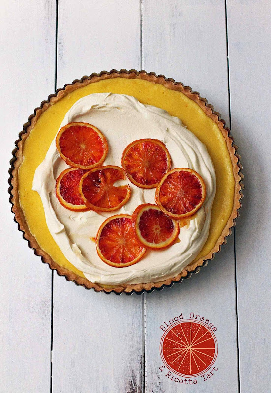 Milk and Honey: Blood Orange and Ricotta Tart