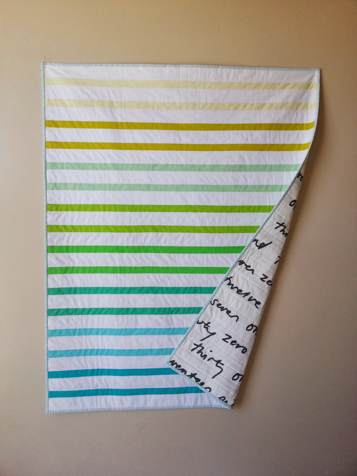 Gradient Stripes Quilt Full View