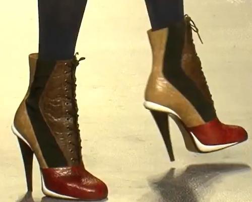 Bokacsizma - női cipő divat 2012 ősz - Fendi bokacsizma