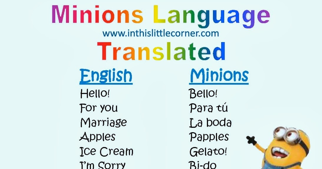 how to learn minion language