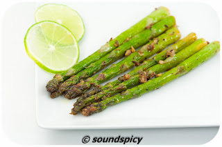 Lemon Ginger Asparagus