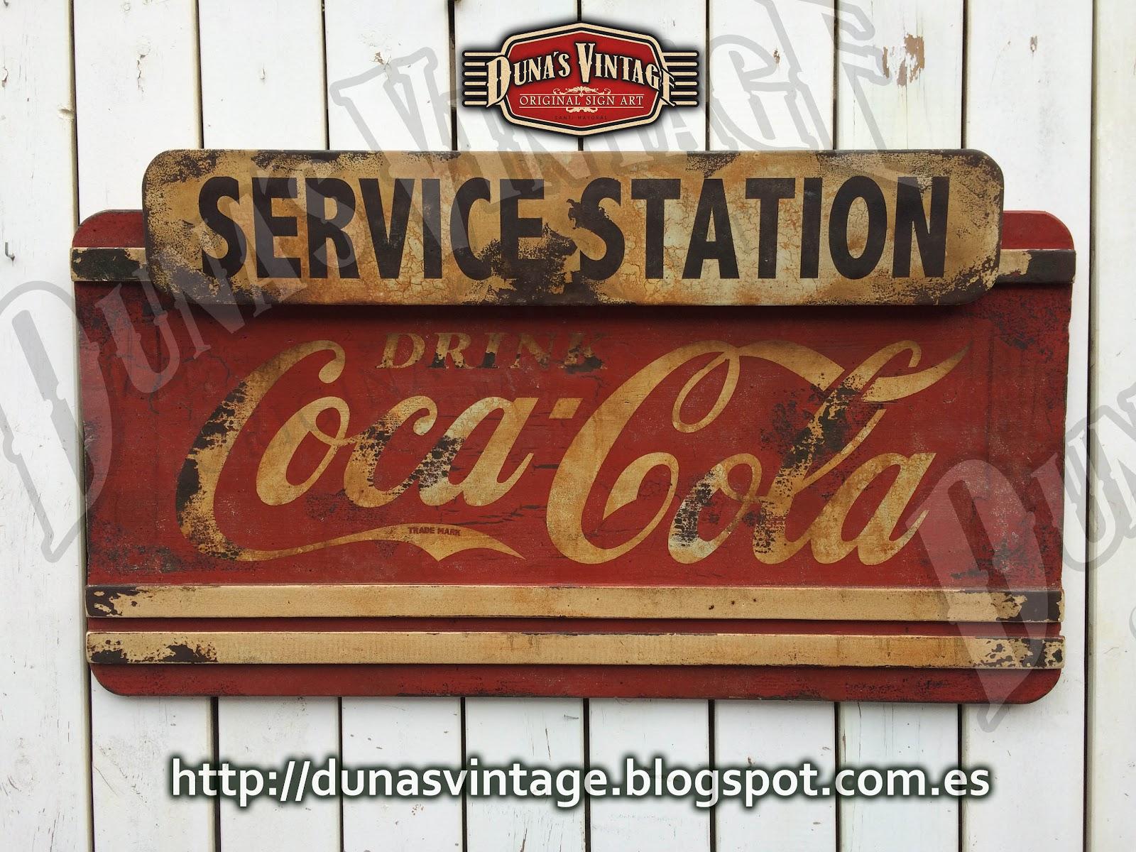 duna s vintage coca cola service station duna s vintage. Black Bedroom Furniture Sets. Home Design Ideas