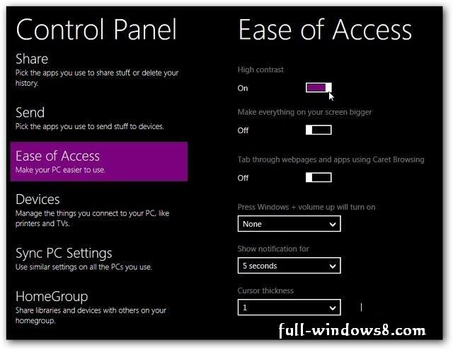 How to Give Windows 8 Cool Look with High Contrast Mode ...