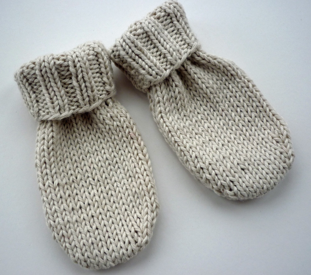 Knitting Pattern For Mittens Using Two Needles : Mack and Mabel: Baby Mittens Knitting Pattern
