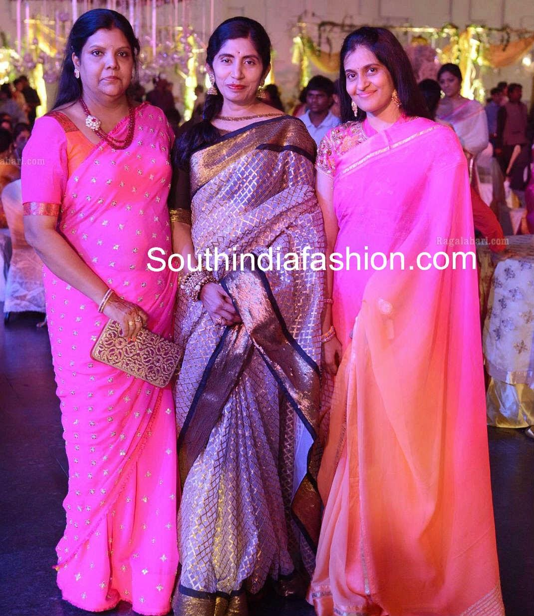 celebrities in bridal sarees