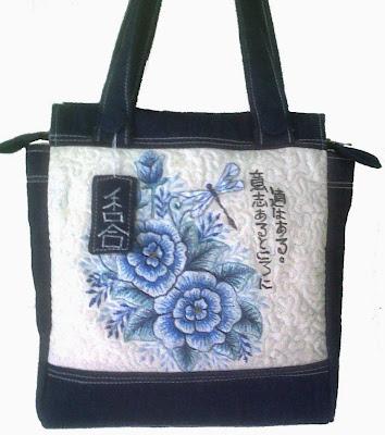 rose embroidered bag
