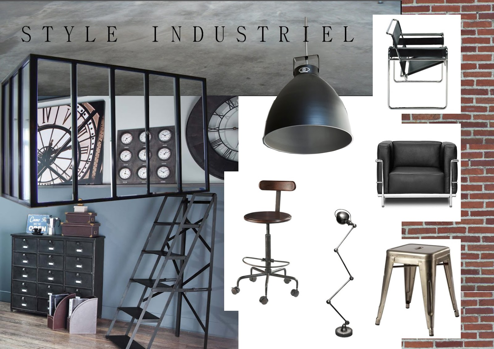 les couleurs de vos jours le blog le style industriel. Black Bedroom Furniture Sets. Home Design Ideas