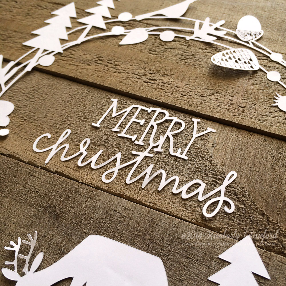 For the Love of Paper: rustic Christmas wall hanging