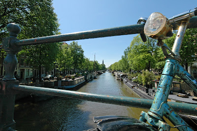 Typical Amsterdam: the bike and the canals