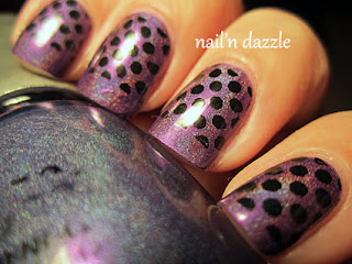 LOL, china, glaze, nail, polish, purple, holo, holographic, omg, collection, htf, polka, dot, bundle, monster, stamp, black
