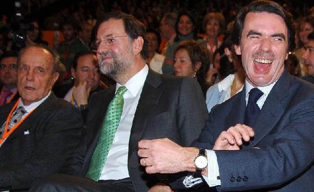 Fraga, Rajoy y Aznar