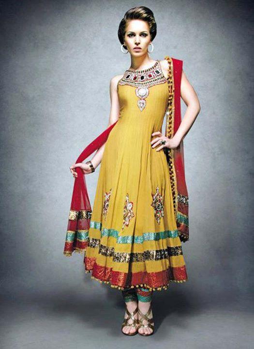 Latest Mehndi Party Dresses : Fashion tips box mehndi mayon party dresses for girls