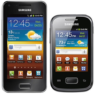 galaxysadvance vs pocket S5300 specs