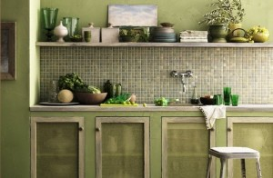 Olive Kitchen Cabinet