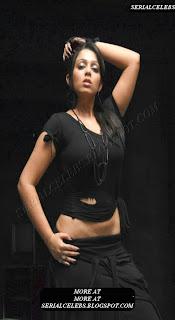 Charmi Kaur hot in Black dress
