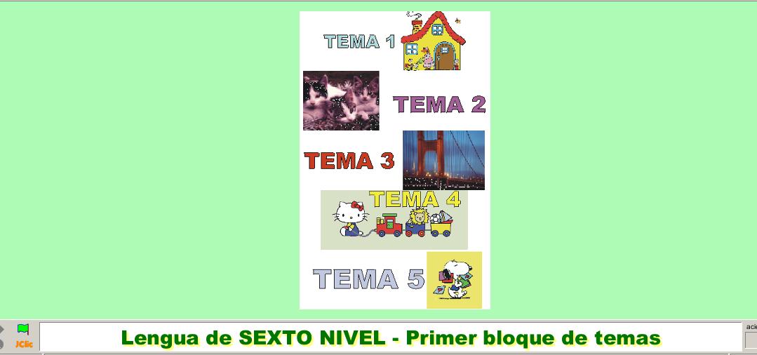 JCLIC - REPASO TEMAS LENGUA (1 al 5) - 6º CURSO