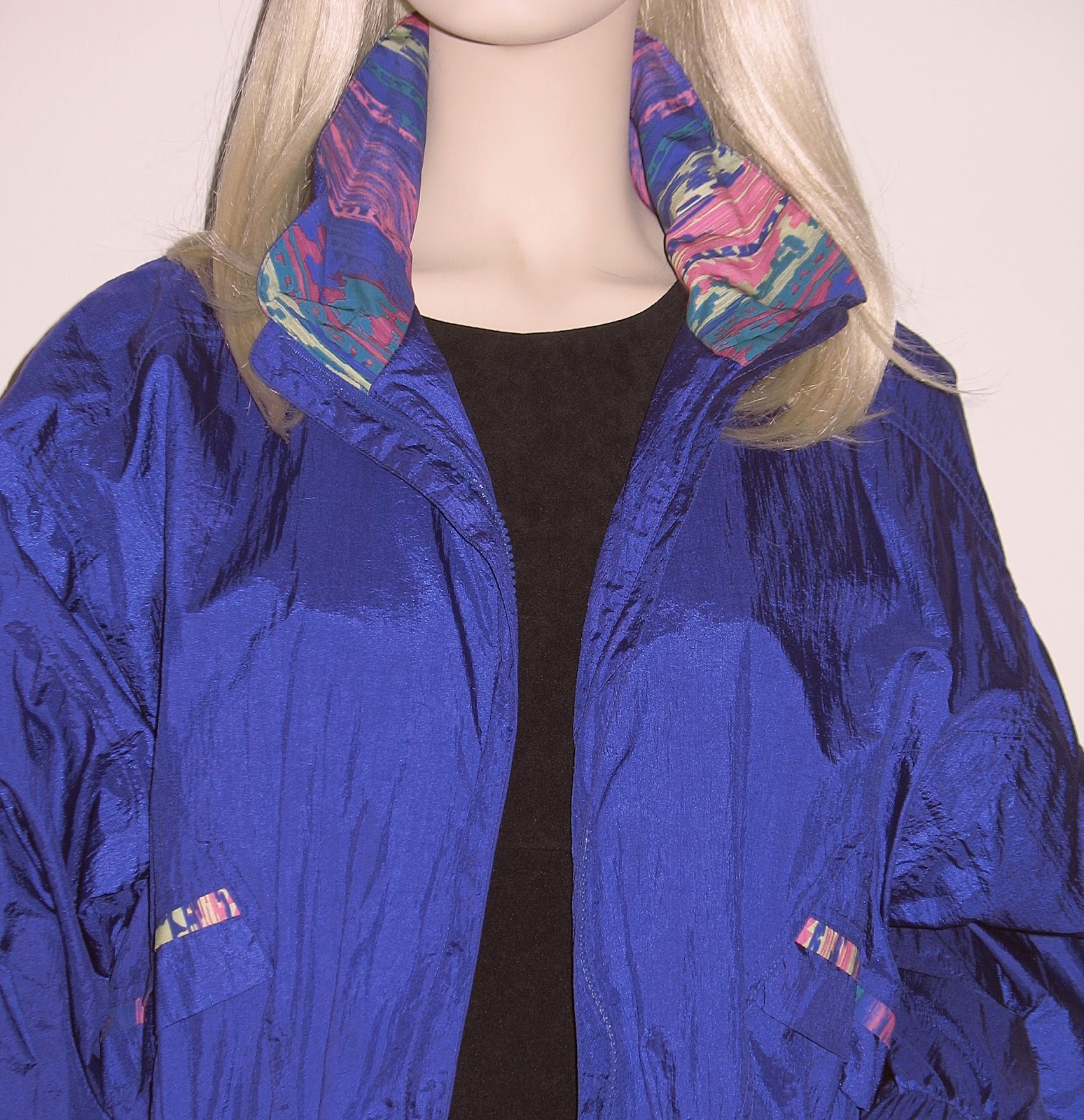 vintage 80s windbreaker jacket