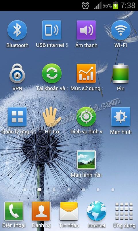 Samsung galaxy trend gts7560 - Hỗ trợ đầy đủ bộ phím tắt cài đặt thông minh