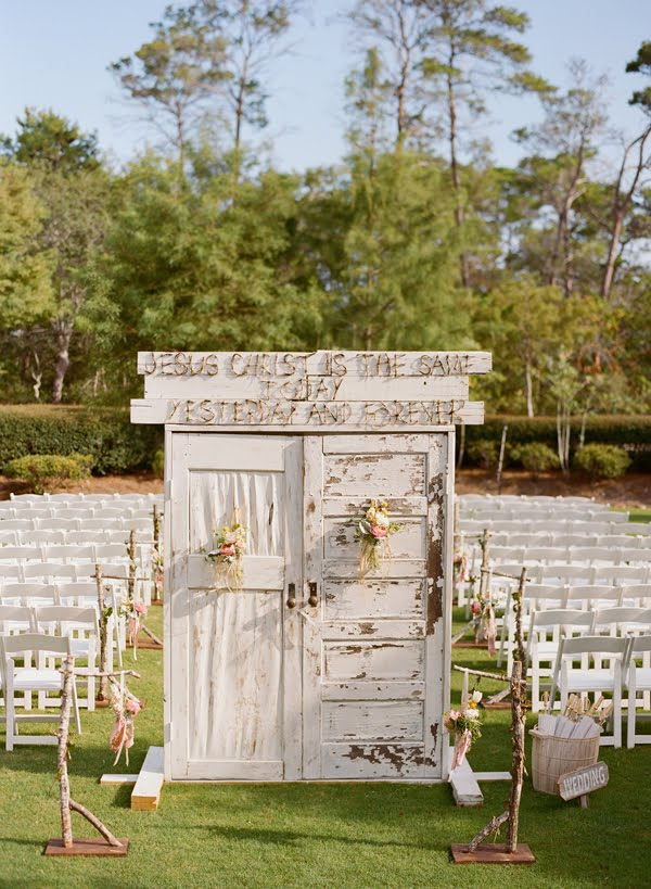 In this pic you can see how they extended the base frame to support the doors. & Diy bridal entrance doors