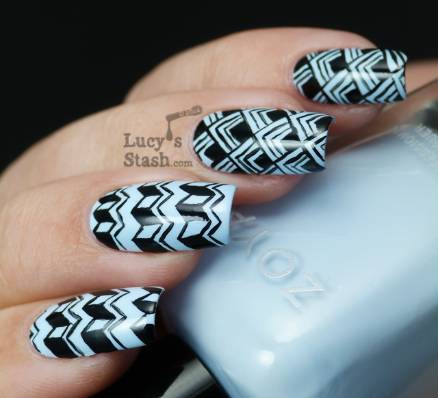 Lucy's Stash - patterned manicure