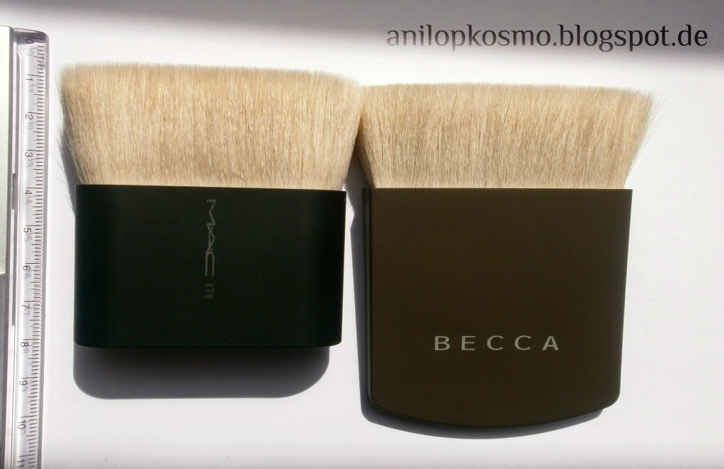 Becca The one perfecting brush, M.A.C. # 179, кисти для макияжа из ворса белой козы, кисти для тела