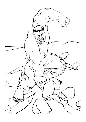 spider hulk coloring pages - photo#21
