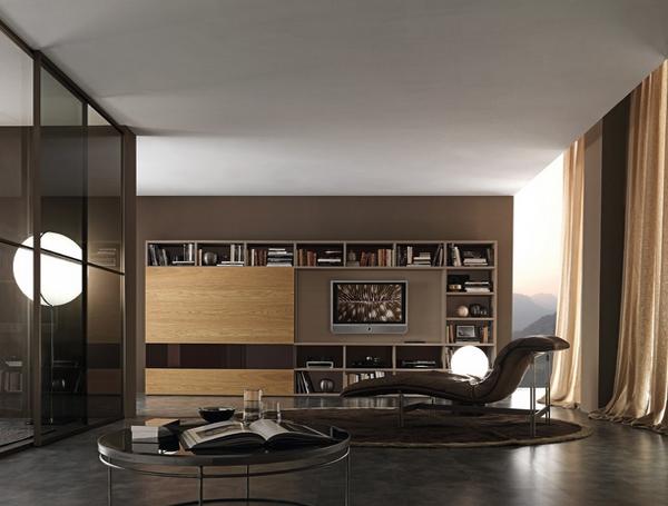 Desain Ruang Tamu Cantik Warna Coklat