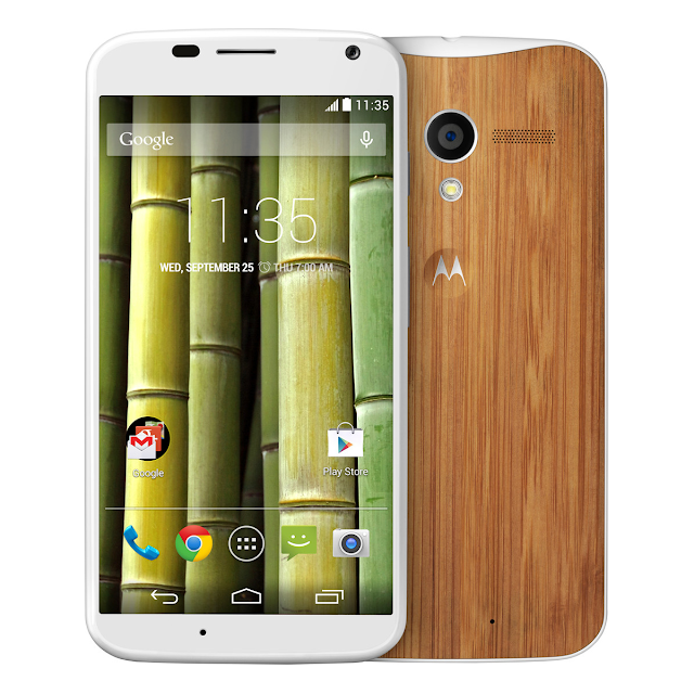 Moto X with Bamboo back