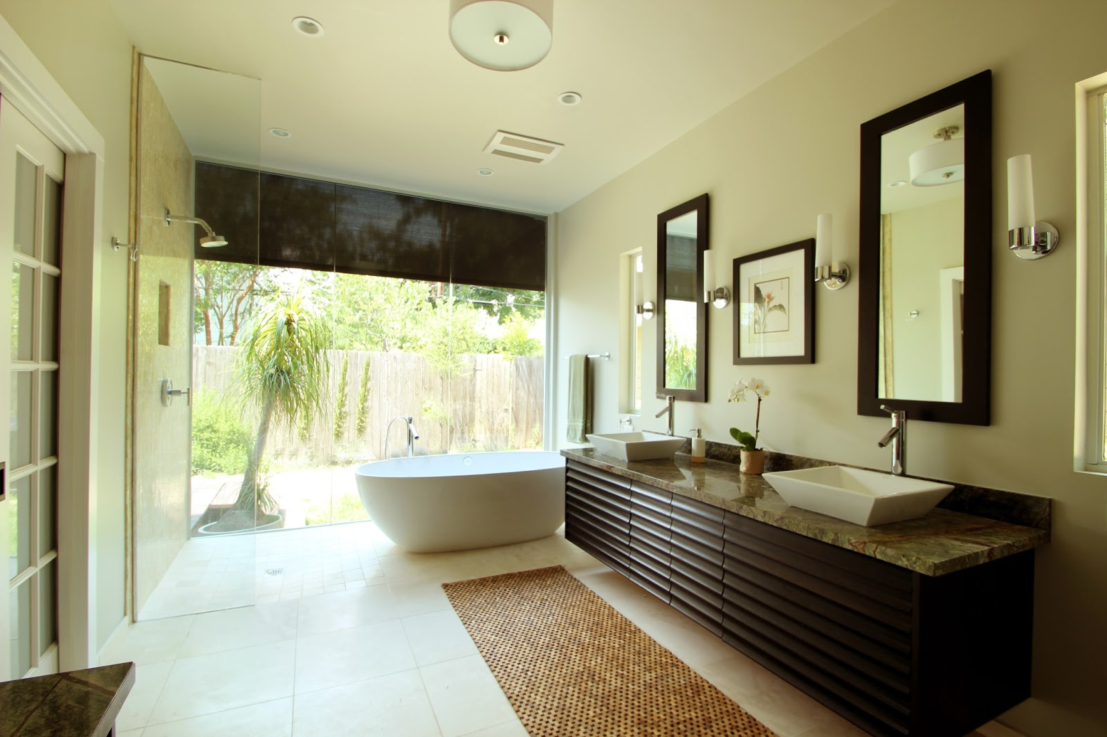 Luxury Contemporary Master Bathrooms modern master bathroom with alloy rame rectified color body