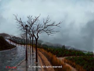 winter landscape procreate ipad