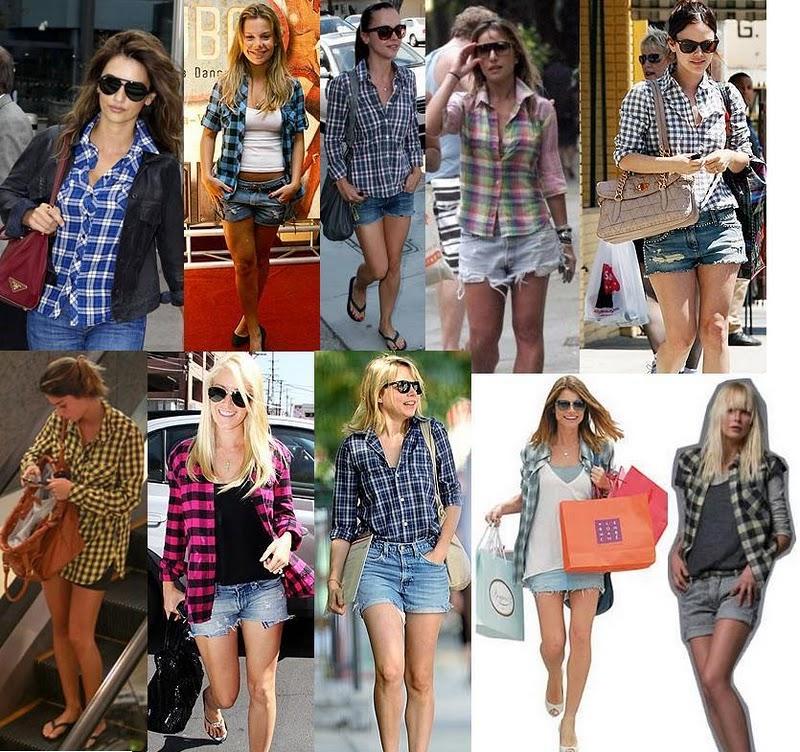 Camisas Xadrez feminina. As camisas xadrez deixaram, de fazer parte só mente