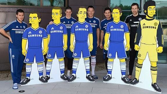 Jugadores Chelsea Los Simpsons