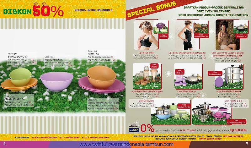 Promo Twin Tulipware November - Desember 2014 ~ Diskon 50% & Special Bonus