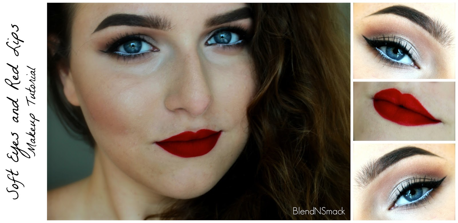 Red lips makeup tutorial vizitmir blend n smack soft eyes and red lips makeup tutorial baditri Gallery