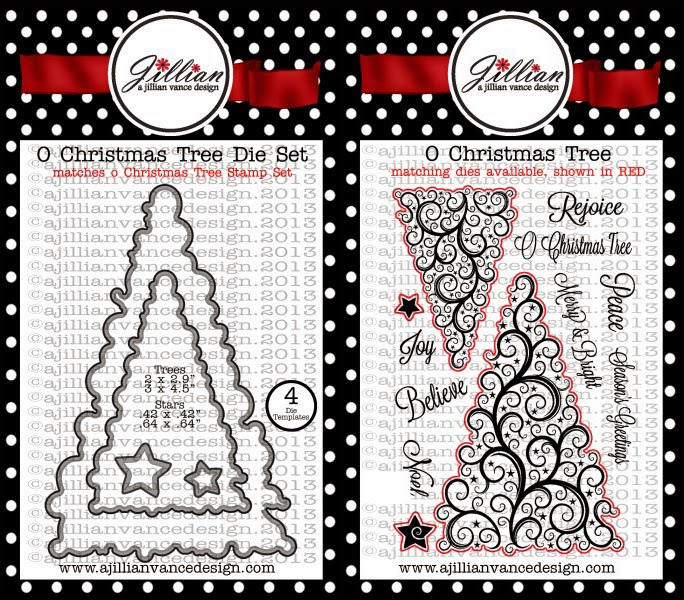 O Christmas Tree die and stamps